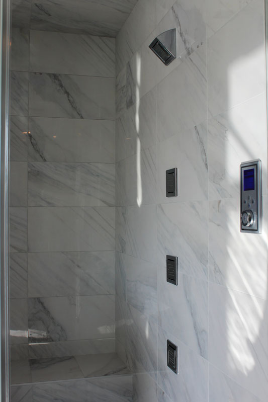 Bianco Carrara Porcelain Tile Installed Sale Tile