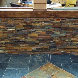 rustic earth ledgestone tile and stone source Rustic Stone Fireplaces Reclaimed Wood Fireplace Surround