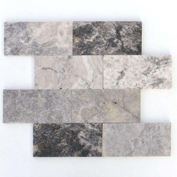 Silver Travertine Backsplash: Tile And Stone Source