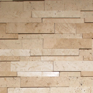 Ivory Travertine Cubic Ledgestone