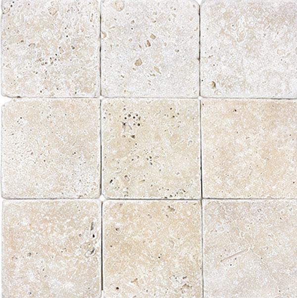 Ivory 4x4 Tumbled Sale Tile Stone Source
