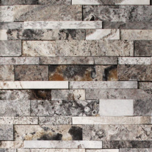 Silver Travertine Cubic Ledgestone