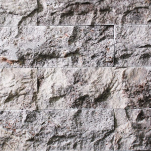 Silver Travertine 6x16 Splitface Ledgestone