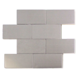 Stainless Steel 3x6 Matte Tiles