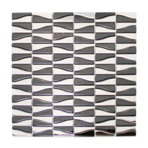 Zebra Stainless Steel and Iron Mosaic