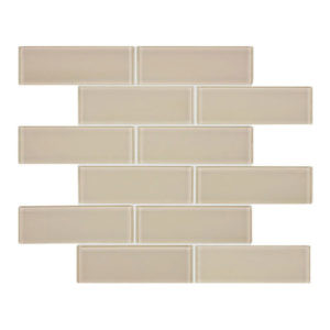 Element Earth 2x6 glass mosaic tile