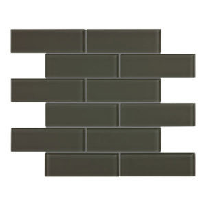 Element Glass Tile in Carbon Colour, size 2 x 6