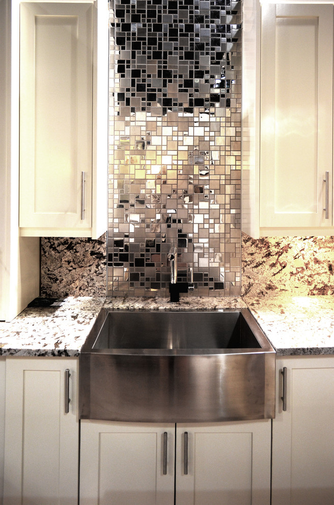 Stainless French Random Mosaic Tile Stone Source