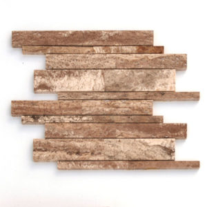 Cosme Travertine Random Strip Mosaic