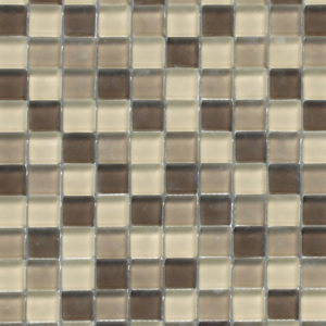 Coffee Latte 1x1 Glass Mosaic
