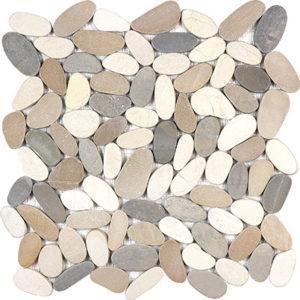 Harmony Warm Blend Flat Stone Pebble Mosaics_l