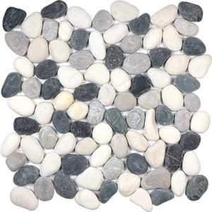 Tranquil Cool Blend Tumbled Pebble Stone Mosaic
