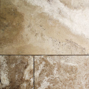 Cosme Brushed Travertine Tile
