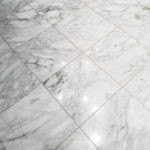 Bianco Cascia Marble installed