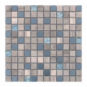 Sonic Silver 1x1 Mixed Material Mosaic