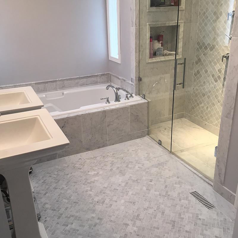 Bianco Carrara Herringbone Sale Tile Stone Source