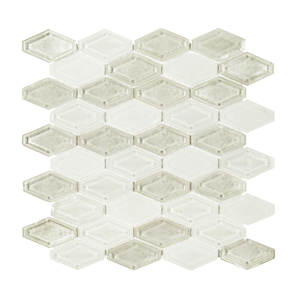 Jeffrey Court Beveled Elongated Hexagon Mosaic Diamond