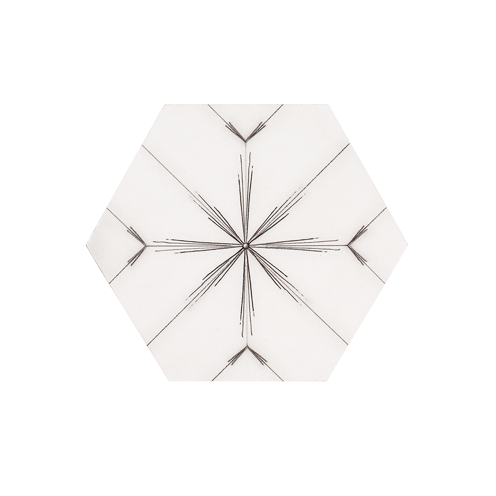 Jeffrey Court 8x9 25 Drawn Stone Hexagon Compass Sale